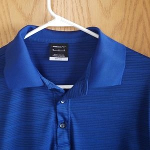 Nike Dri-Fit Men's Blue Golf Polo Medium